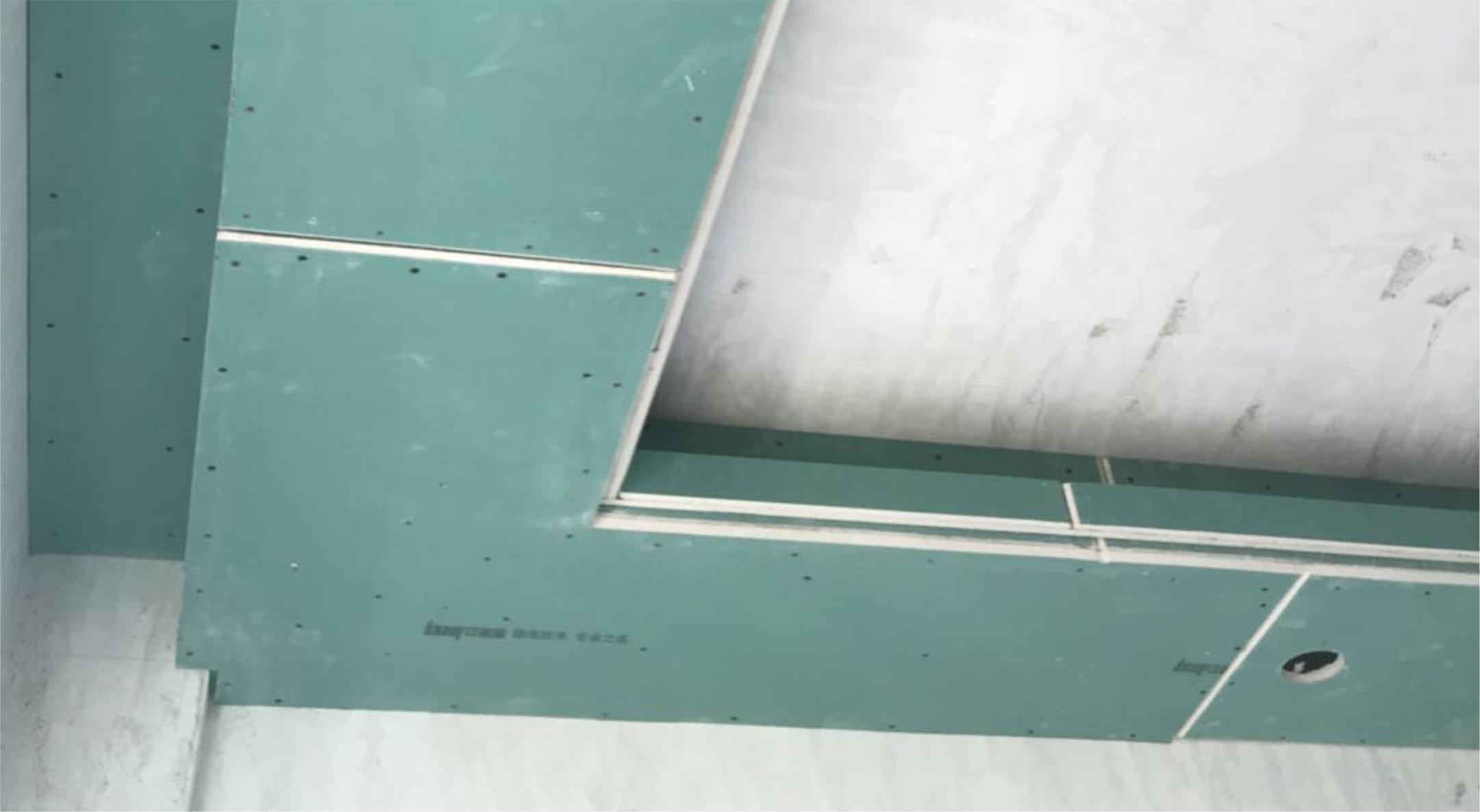 吊顶转角L型整板防裂工艺——防止吊顶转角处开裂